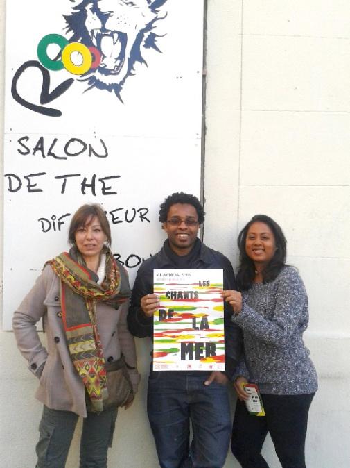 (Photo Maro) Ce matin, au ROoo Café 1 rue Antoine Maille 13005 Marseille avec Sandra Richard (Fonker la Réunion asso)
