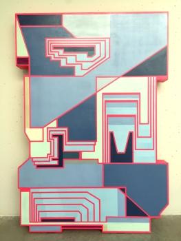 DEMS - DELTANv9 Spray sur cadre en bois découpé Collection Mucem © DEMS / Jean-Guy Solnon